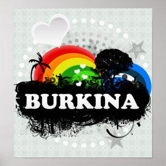 Cute Fruity Burkina Print