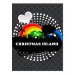 Cute Fruity Christmas Island Post Card