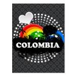 Cute Fruity Colombia Postcard