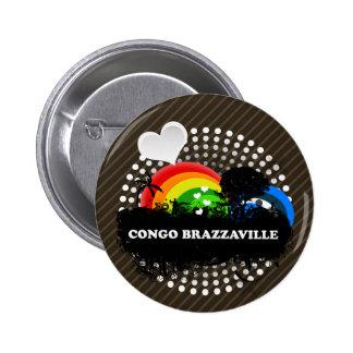 Cute Fruity Congo Brazzaville Pinback Buttons