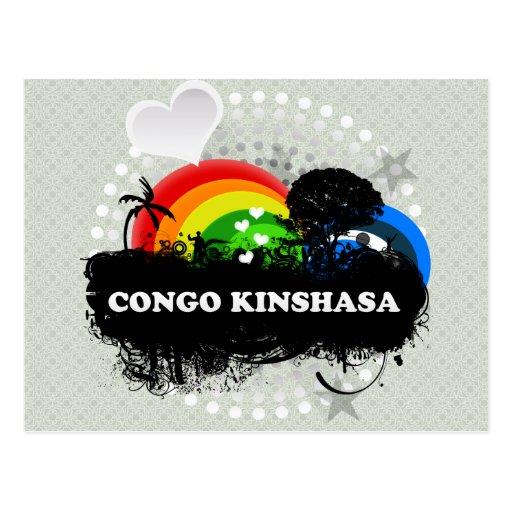 Cute Fruity Congo Kinshasa Post Cards