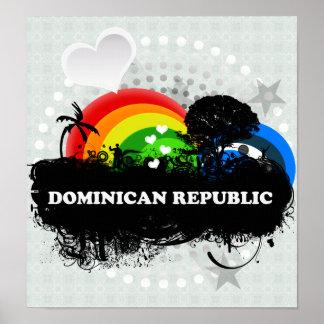 Cute Fruity Dominican Republic Poster