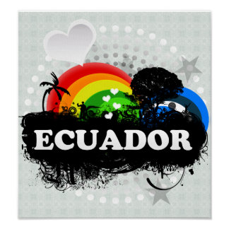Cute Fruity Ecuador Posters