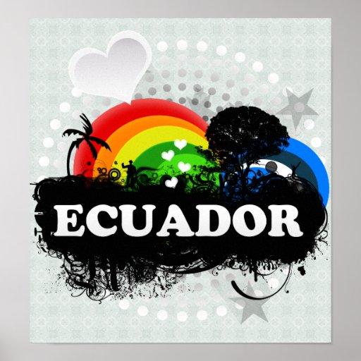 Cute Fruity Ecuador Poster