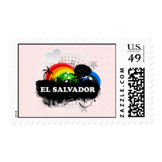 Cute Fruity El Salvador Stamp