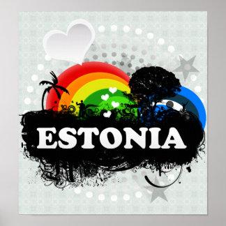 Cute Fruity Estonia Print