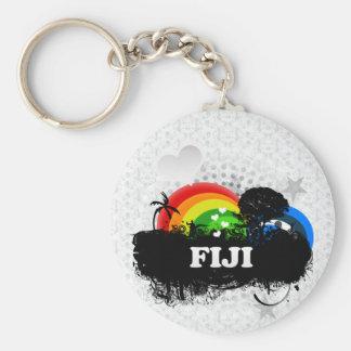 Cute Fruity Fiji Basic Round Button Keychain