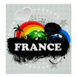 Cute Fruity France Poster