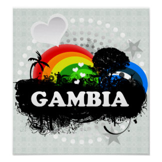 Cute Fruity Gambia Posters