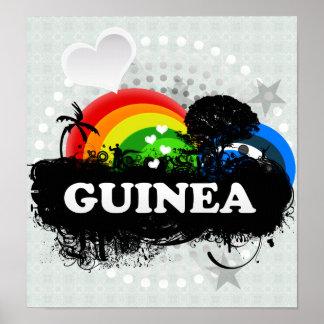 Cute Fruity Guinea Posters