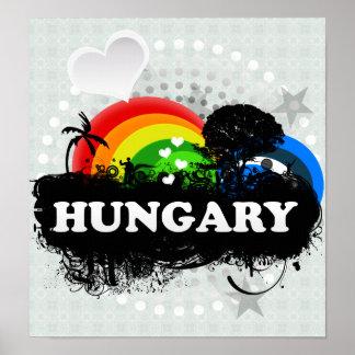Cute Fruity Hungary Poster