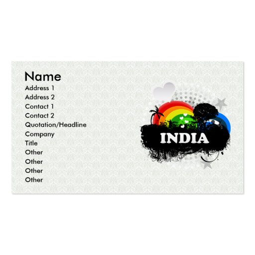 Cute Fruity India Business Card Template