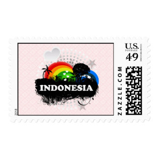 Cute Fruity Indonesia Postage Stamp