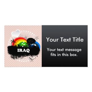 Cute Fruity Iraq Customized Photo Card