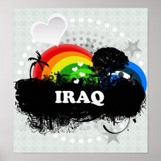 Cute Fruity Iraq Print