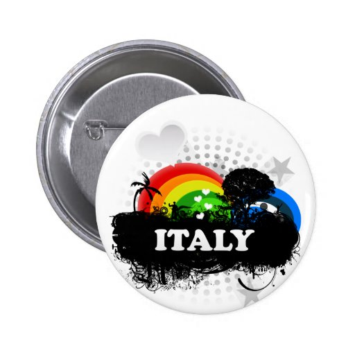 Cute Fruity Italy 2 Inch Round Button