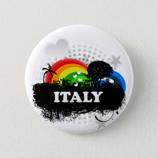 Cute Fruity Italy Button