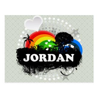 Cute Fruity Jordan Post Cards
