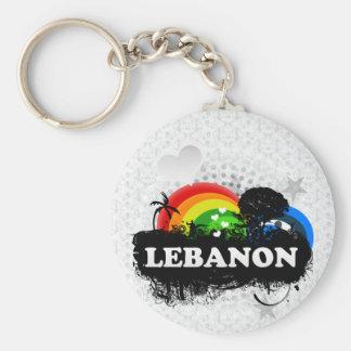 Cute Fruity Lebanon Basic Round Button Keychain