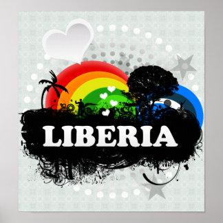 Cute Fruity Liberia Print