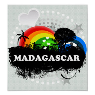 Cute Fruity Madagascar Print