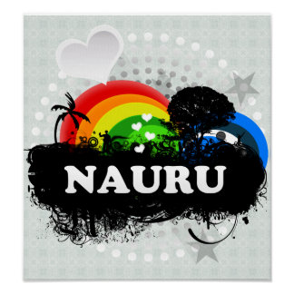 Cute Fruity Nauru Poster