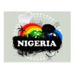 Cute Fruity Nigeria Postcard
