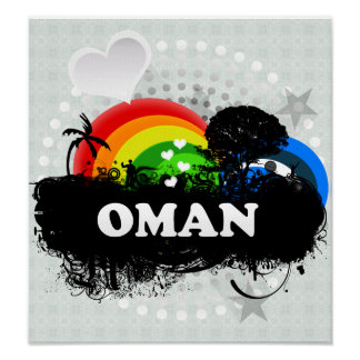 Cute Fruity Oman Poster