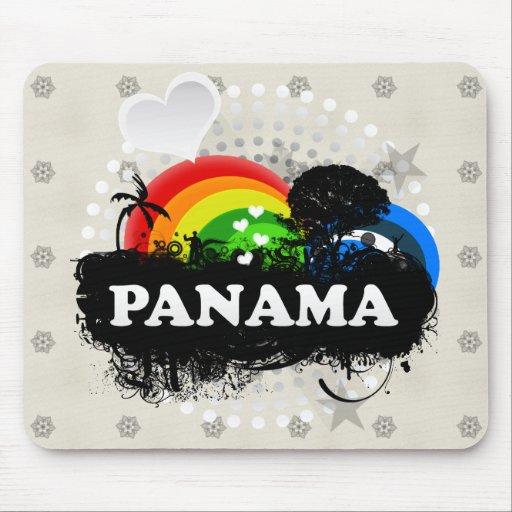 Cute Fruity Panama Mouse Pad