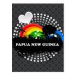 Cute Fruity Papua New Guinea Post Card