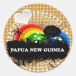 Cute Fruity Papua New Guinea Stickers