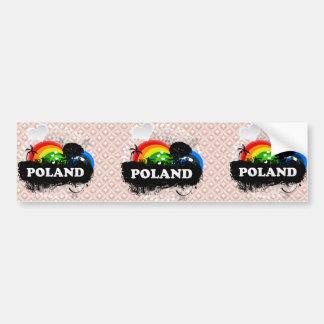 Cute Fruity Poland Car Bumper Sticker