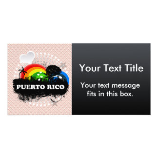Cute Fruity Puerto Rico Personalized Photo Card