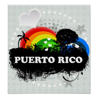 Cute Fruity Puerto Rico Poster