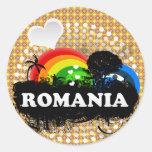 Cute Fruity Romania Stickers