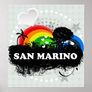 Cute Fruity San Marino Poster