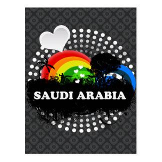 Cute Fruity Saudi Arabia Postcard