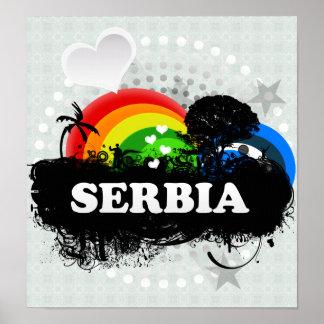 Cute Fruity Serbia Poster