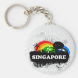 Cute Fruity Singapore Key Chains