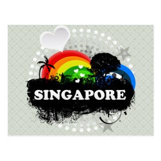 Cute Fruity Singapore Postcard