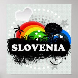 Cute Fruity Slovenia Poster
