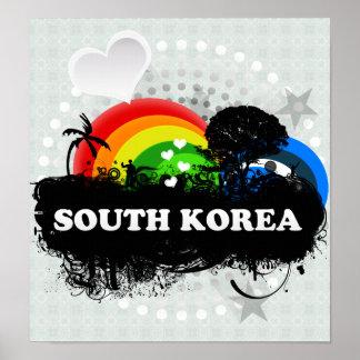 Cute Fruity South Korea Print