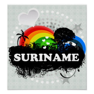 Cute Fruity Suriname Poster