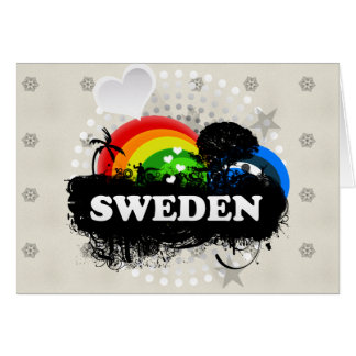 Cute Fruity Sweden Greeting Cards