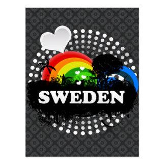 Cute Fruity Sweden Postcard