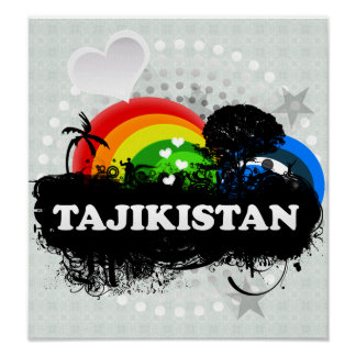 Cute Fruity Tajikistan Print