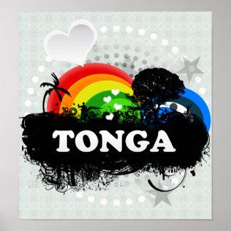 Cute Fruity Tonga Print