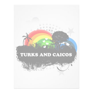 Cute Fruity Turks And Caicos Personalized Letterhead