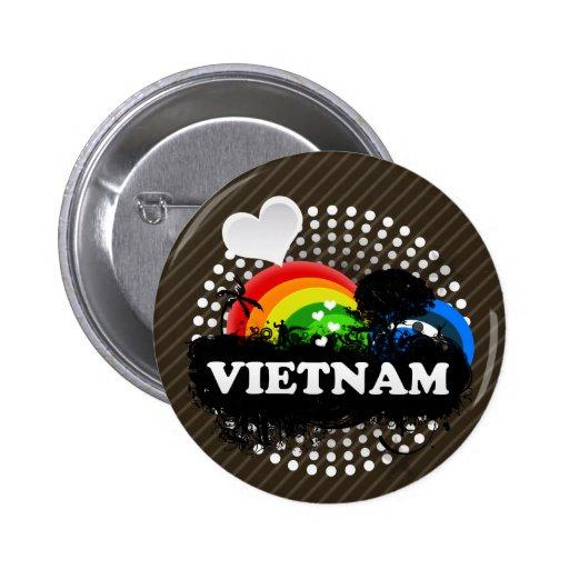 Cute Fruity Vietnam 2 Inch Round Button