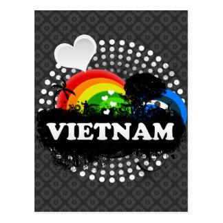 Cute Fruity Vietnam Postcard